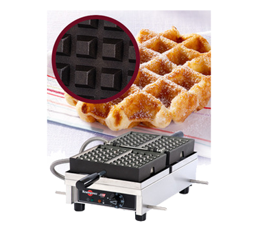 WECDHAAS Eurodib USA - Krampouz Liege Waffle Maker single with 180° opening