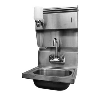HS-1615C GSW USA - Hand Sink, wall mount, faucet, strainer