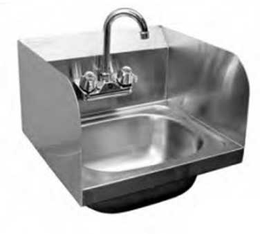 HS-2017SS GSW USA - Hand Sink, wall mount, space saver, 17-3/4