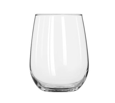 221 Libbey Glass - White Wine Glass, 17 oz., stemless
