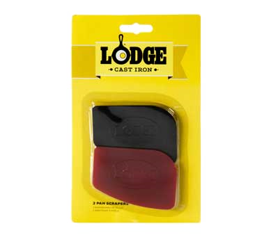 SCRAPERPK - Lodge Manufacturing Pan Scraper pack includes: (1) red and (1) black