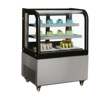 RS-CN-0270 Omcan - (39539) Curved Glass Refrigerated Display Case floor model