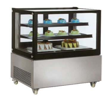 RS-CN-0370 Omcan - (39540) Square Glass Refrigerated Display Case floor model