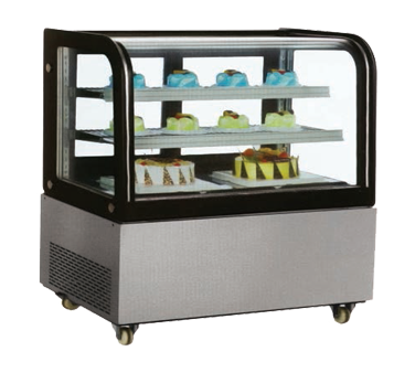 RS-CN-0370-S Omcan - (40519) Curved Glass Refrigerated Display Case floor model