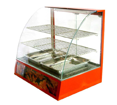 DH2P-FW3-1 Omcan - (21479) Food Warmer/Display Case curved glass