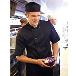 BLSSBLK4XL Chef Works - Chambery Chef Coat double-breasted