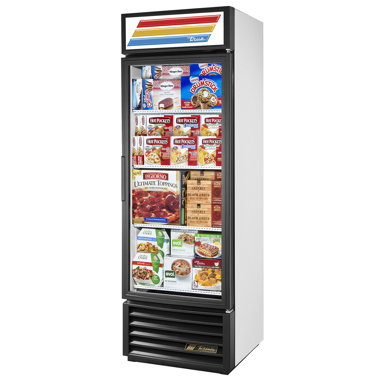 GDM-19T-F-LD True - Freezer Merchandiser one-section