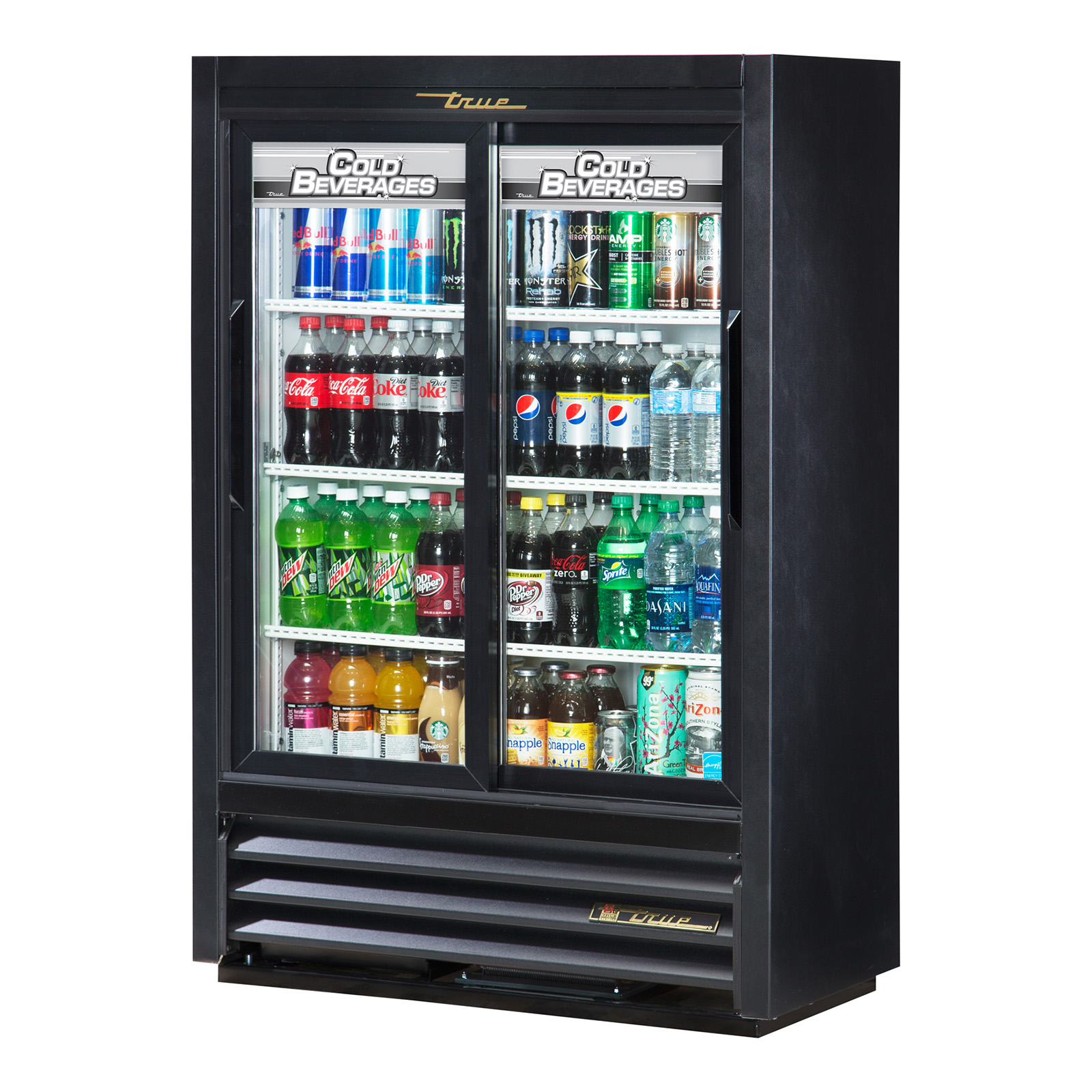 GDM-33SSL-54-LD True - Convenience Store Cooler two-section