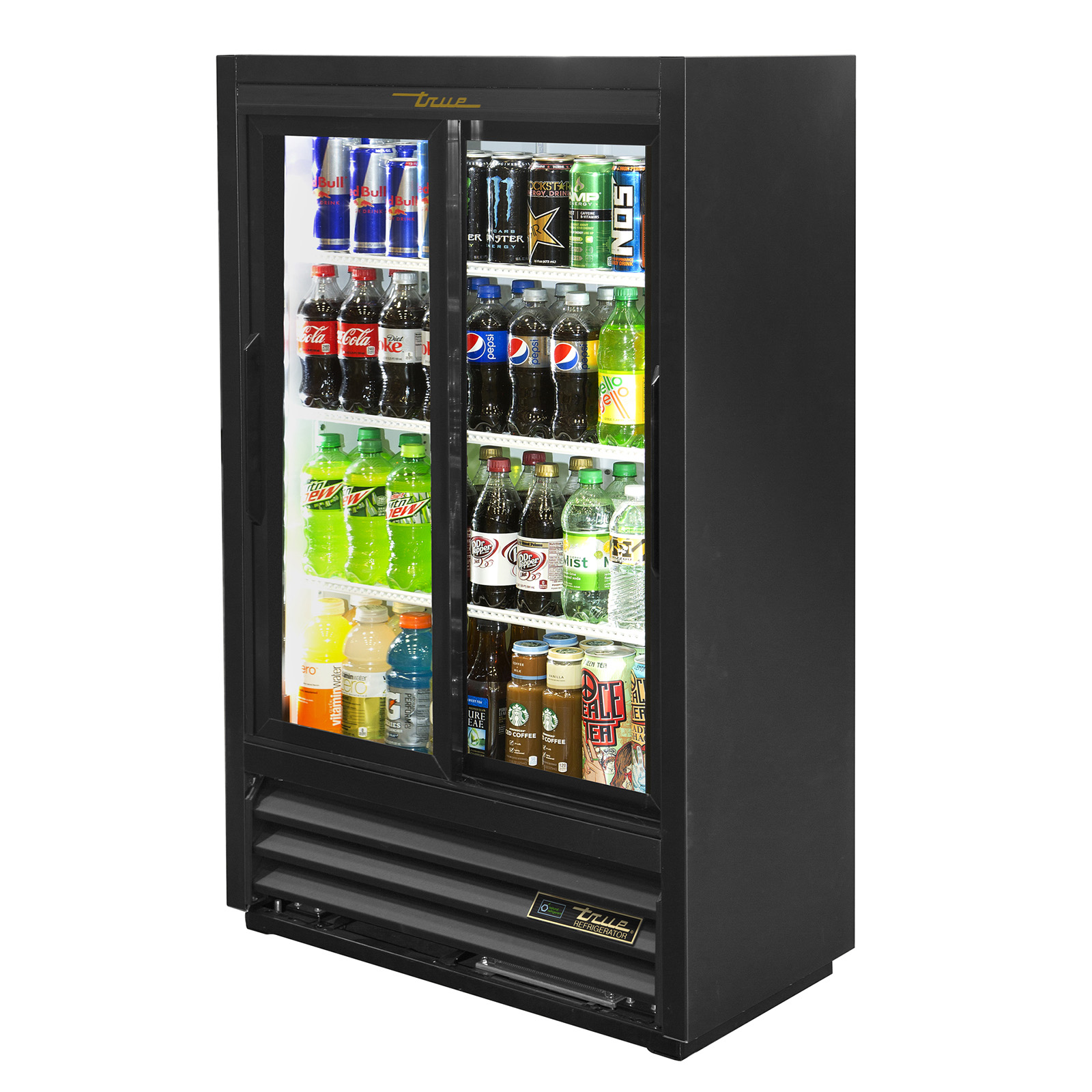 GDM-33SSL-56-HC-LD True - Convenience Store Cooler two-section