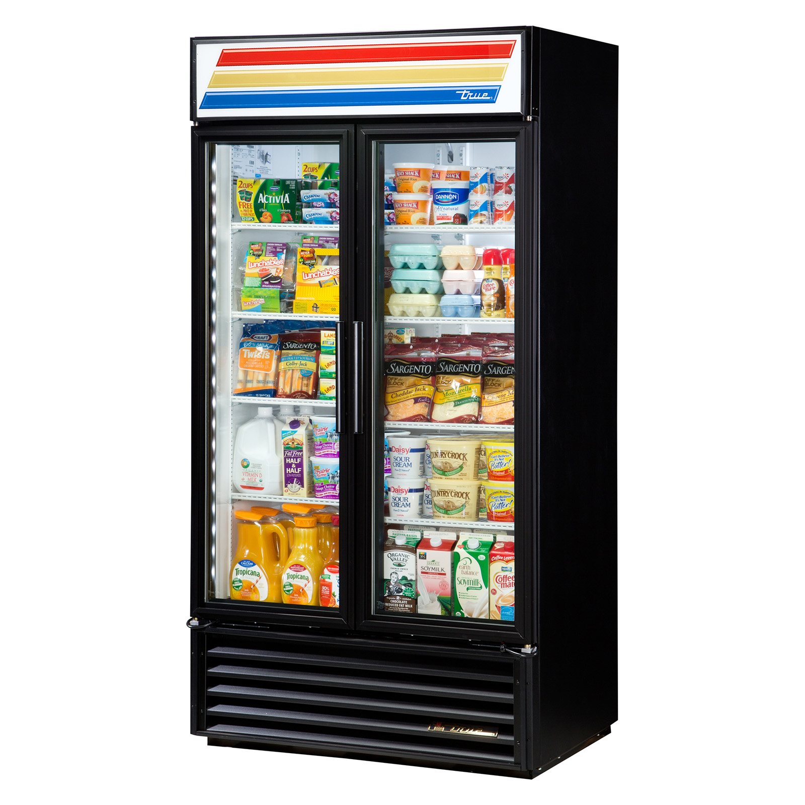 GDM-35-LD True - Refrigerated Merchandiser two-section