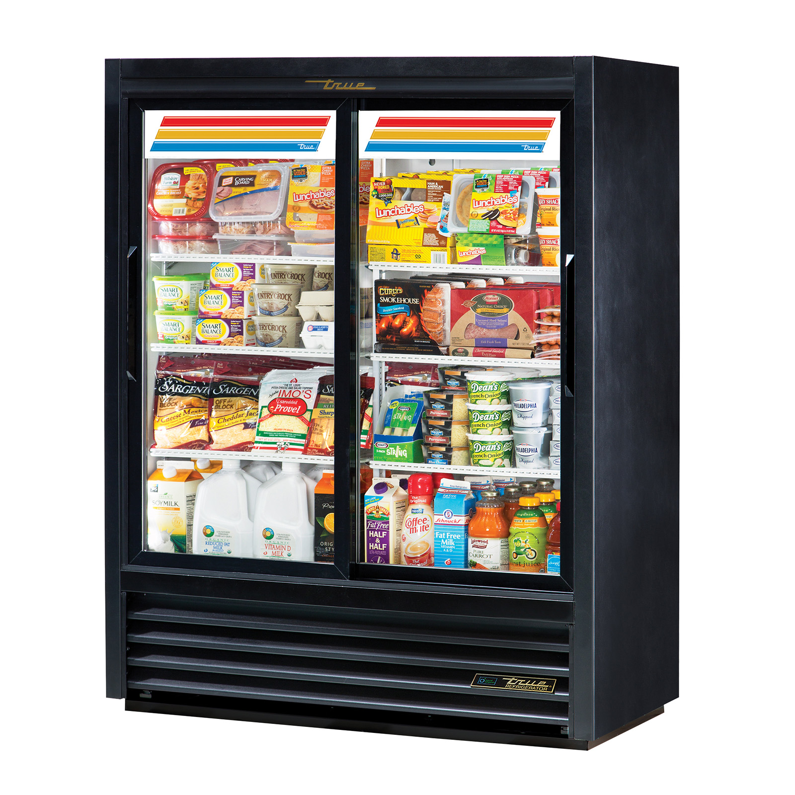 GDM-41SL-60-HC-LD True - Convenience Store Cooler two-section