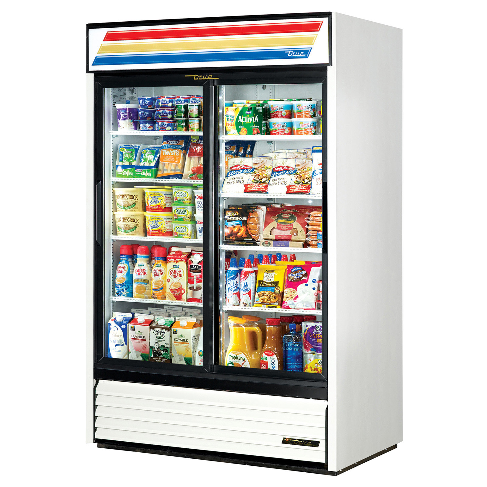 GDM-45-LD True - Refrigerated Merchandiser two-section