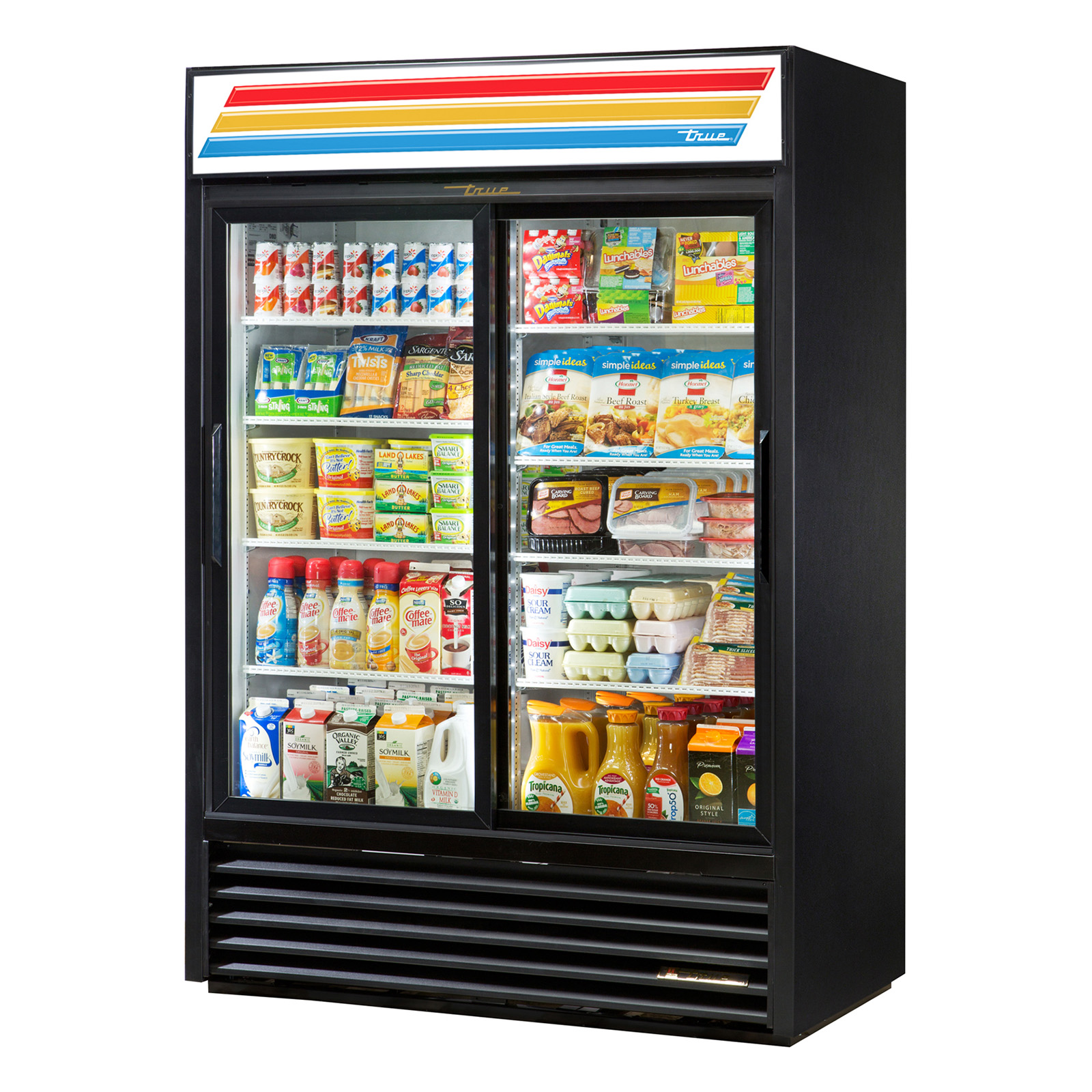 GDM-47-LD True - Refrigerated Merchandiser two-section