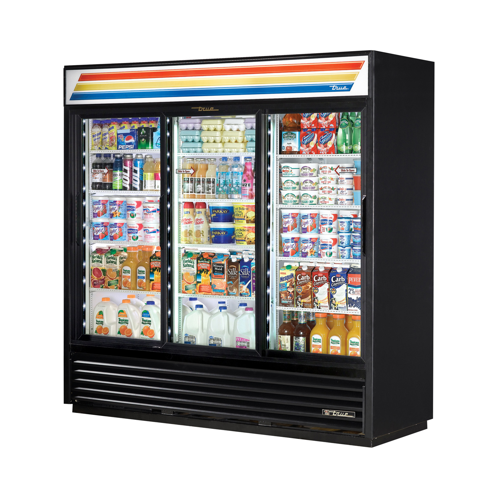 GDM-69-LD True - Refrigerated Merchandiser three-section