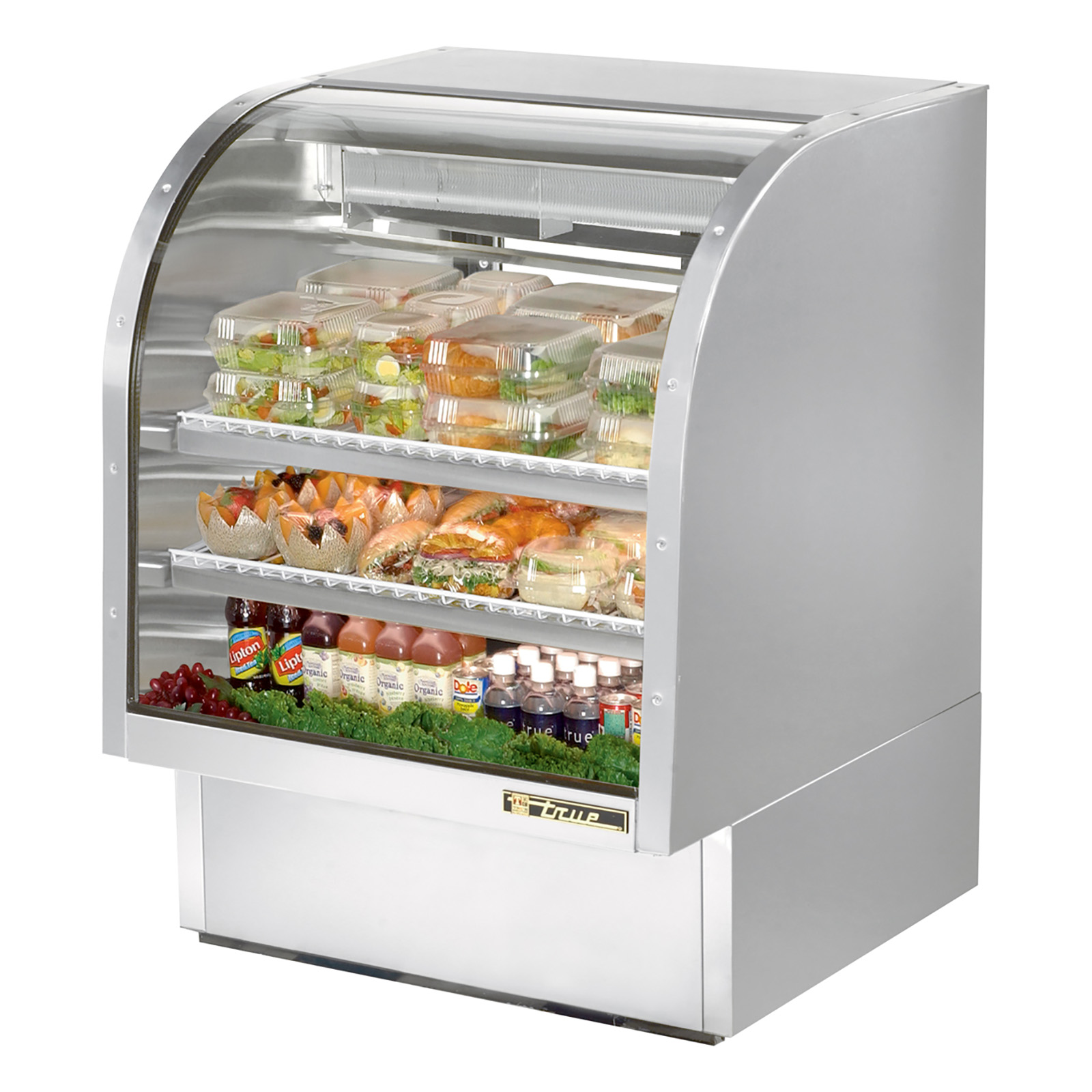 TCGG-36-S True - Curved Glass Deli Case 36-1/4