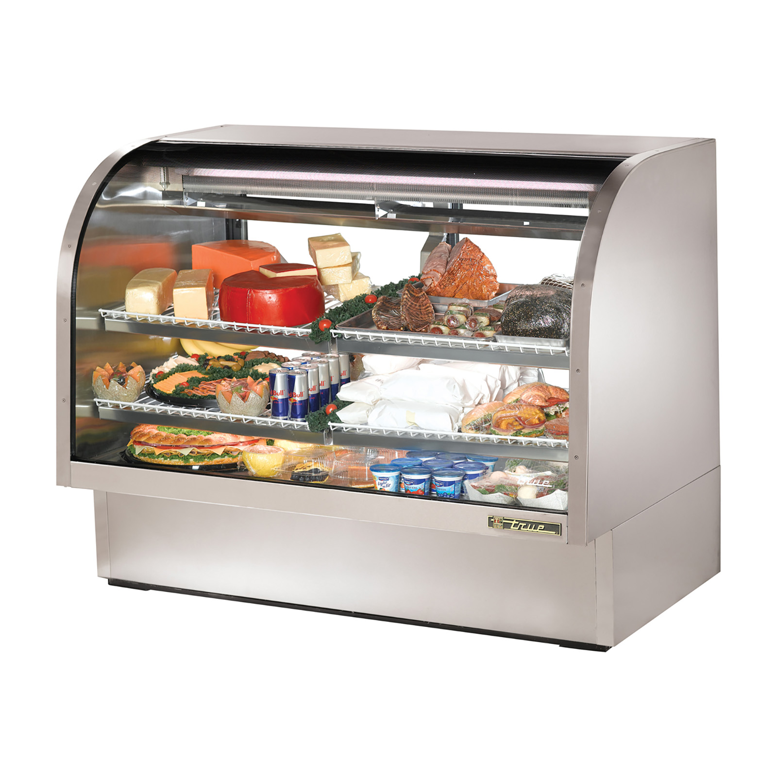 TCGG-60-S True - Curved Glass Deli Case 60-1/4
