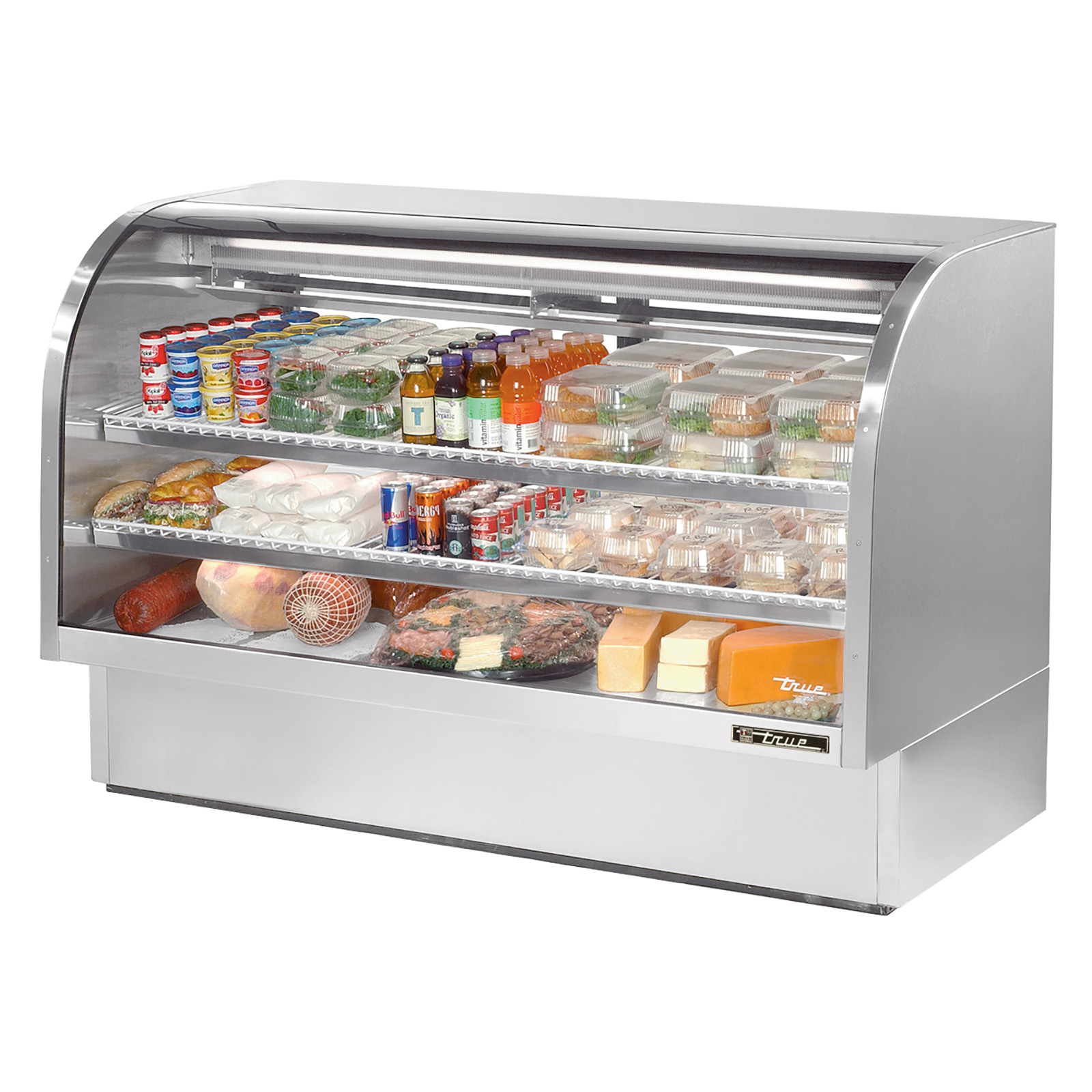 TCGG-72-S True - Curved Glass Deli Case 72-1/8