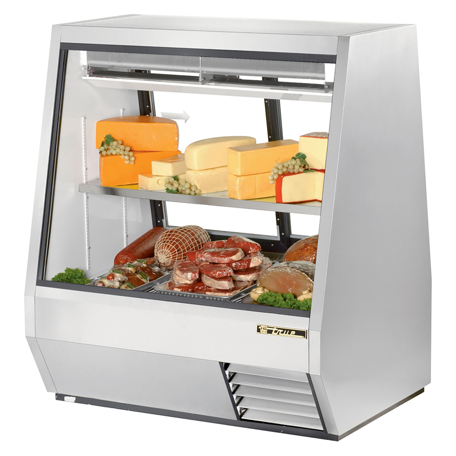 TDBD-48-2 True - Double Duty Deli Case see-thru