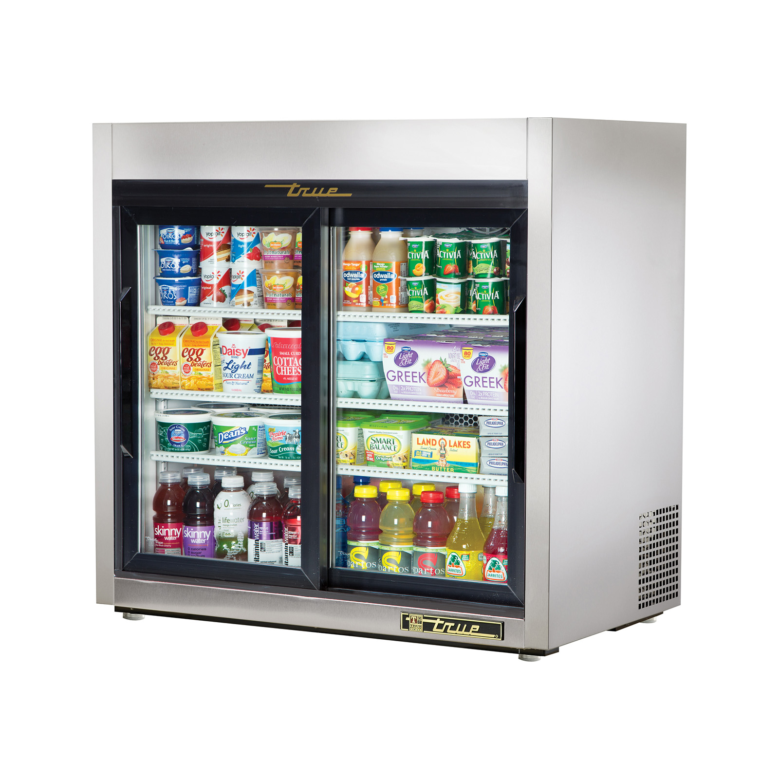 TSD-09G-LD True - Countertop Refrigerated Merchandiser (2) glass sliding doors