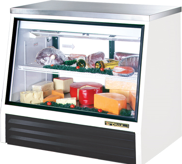 TSID-48-2-L True - Counter-Height Deli Case see-thru