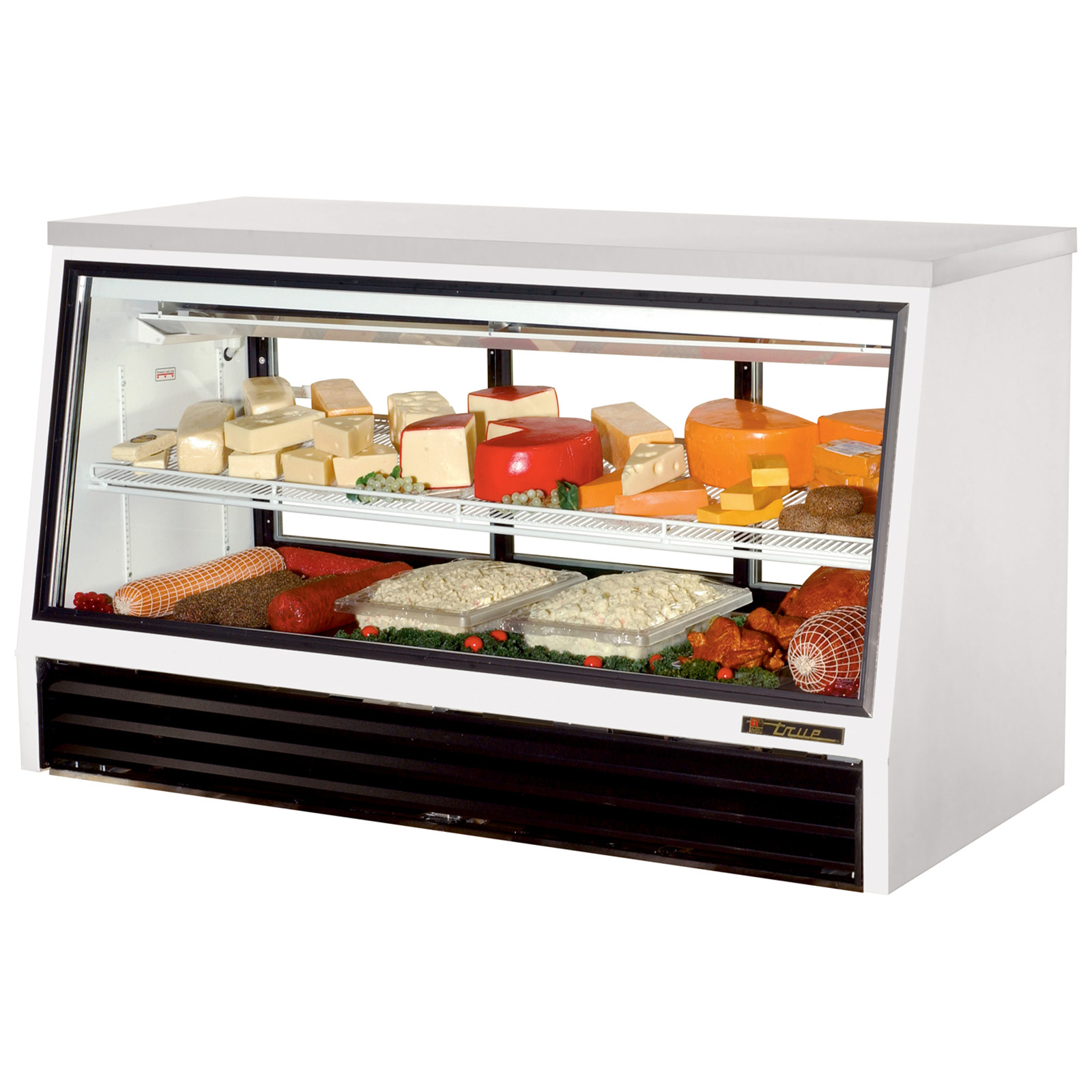 TSID-72-3-L True - Counter-Height Deli Case see-thru