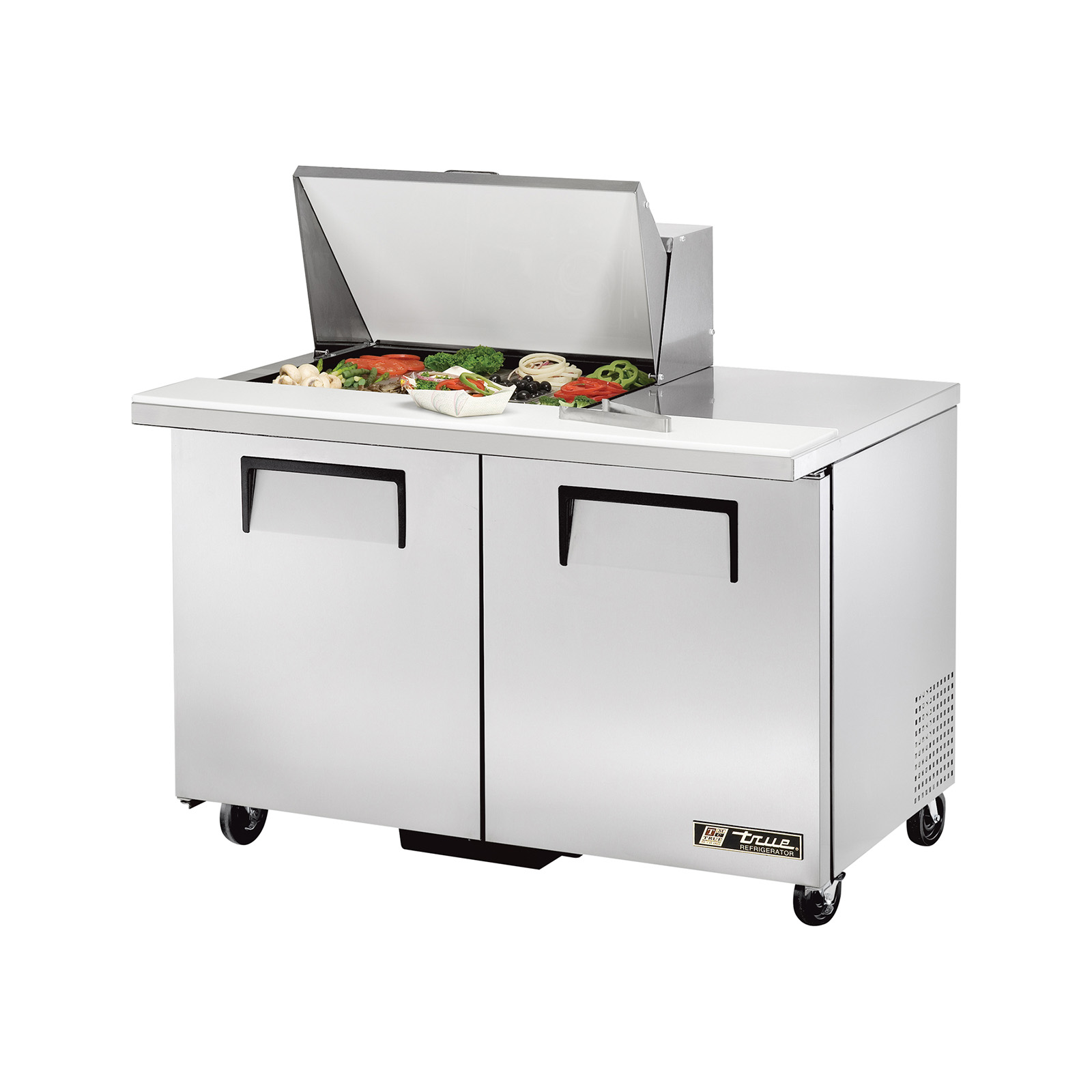 TSSU-48-12M-B True - Mega Top Sandwich/Salad Unit (12) 1/6 size (4