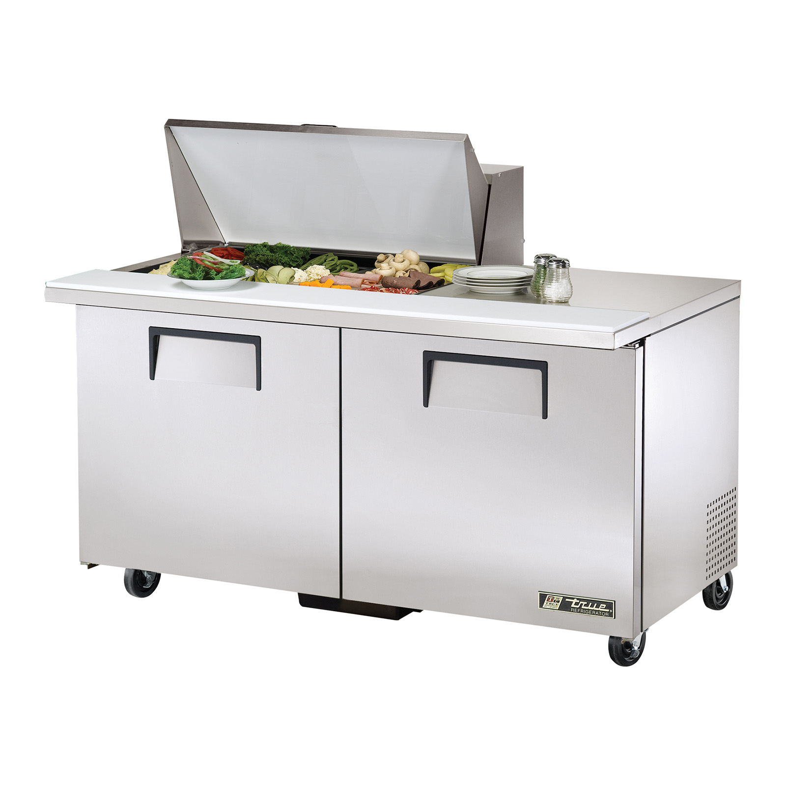 TSSU-60-15M-B True - Mega Top Sandwich/Salad Unit (15) 1/6 size (4