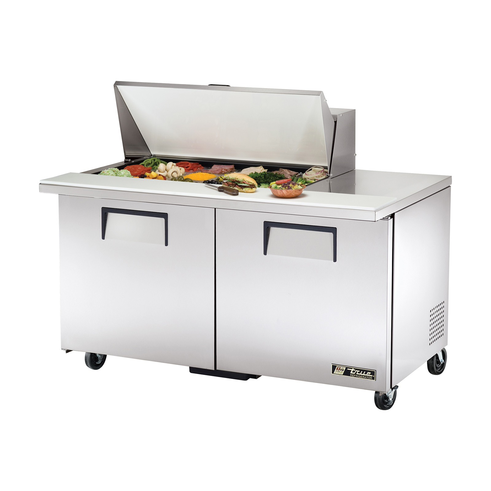 TSSU-60-18M-B True - Mega Top Sandwich/Salad Unit (18) 1/6 size (4