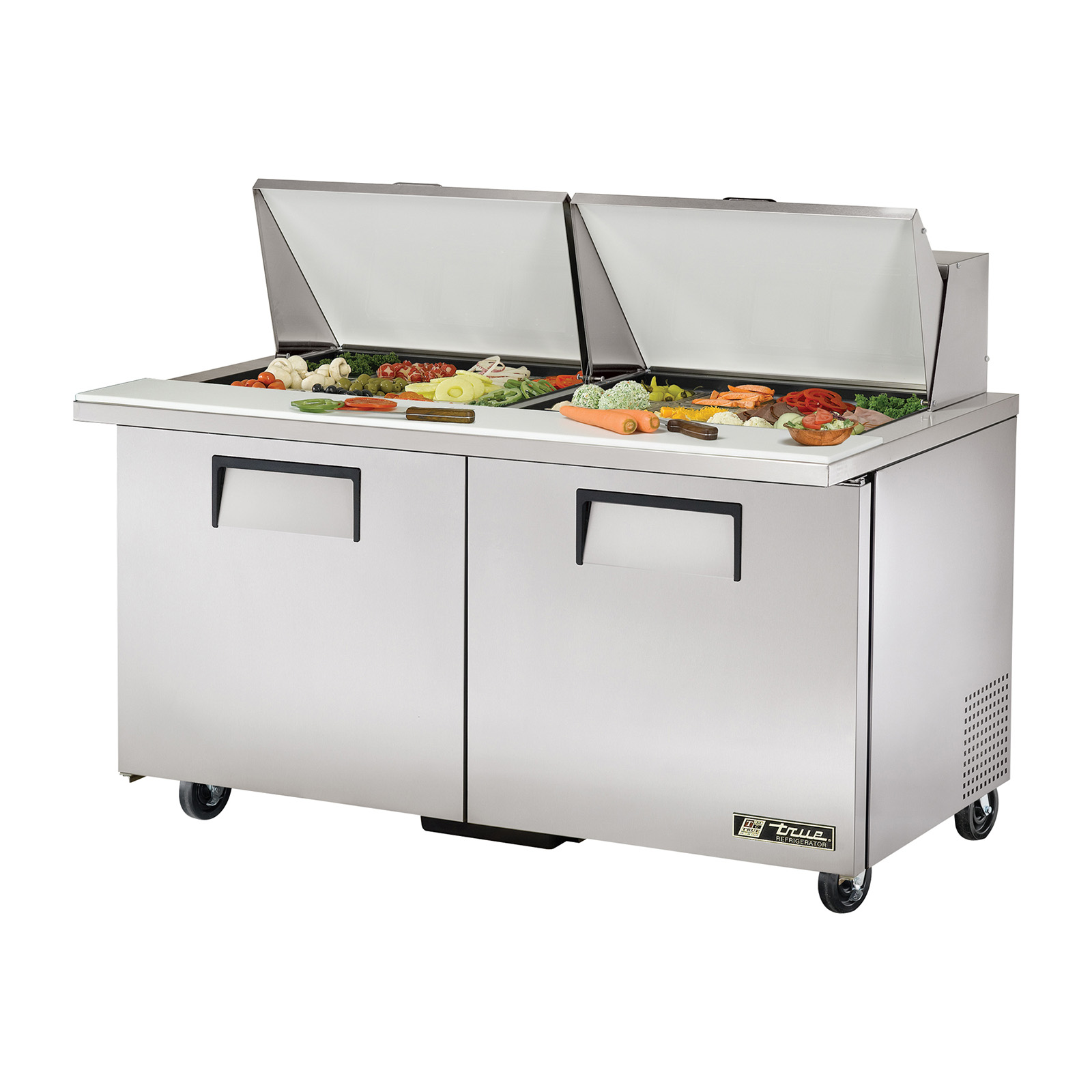 TSSU-60-24M-B-ST True - Mega Top Sandwich/Salad Unit (24) 1/6 size (4