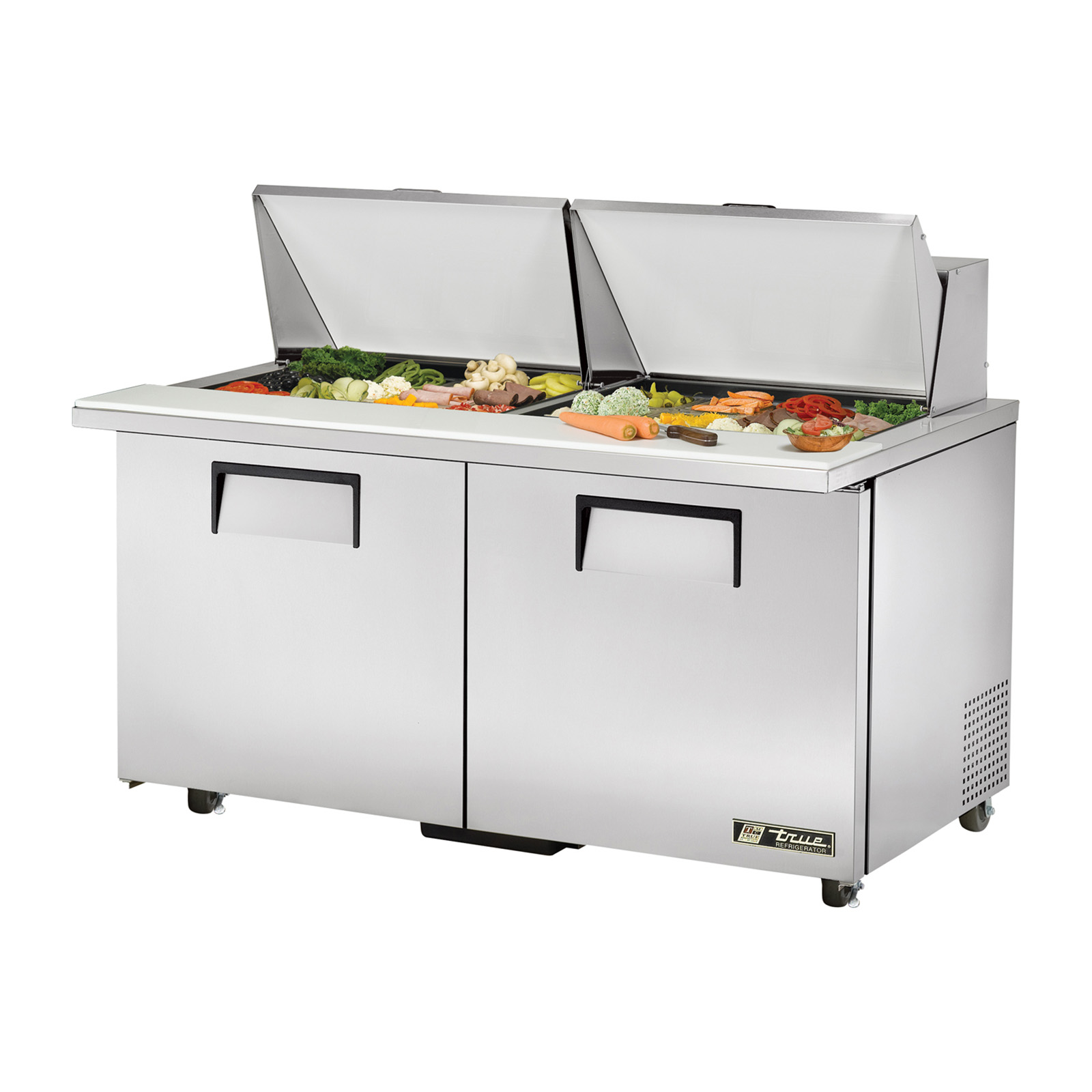 TSSU-60-24M-B-ST-ADA True - ADA Compliant Mega Top Sandwich/Salad Unit (24) 1/6 (4