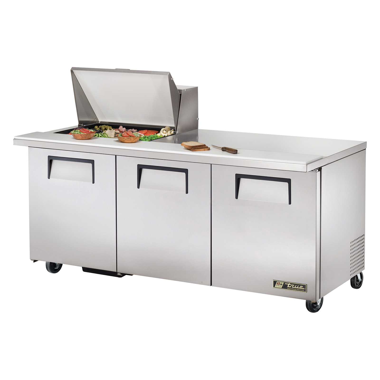 TSSU-72-12M-B True - Mega Top Sandwich/Salad Unit (12) 1/6 size (4