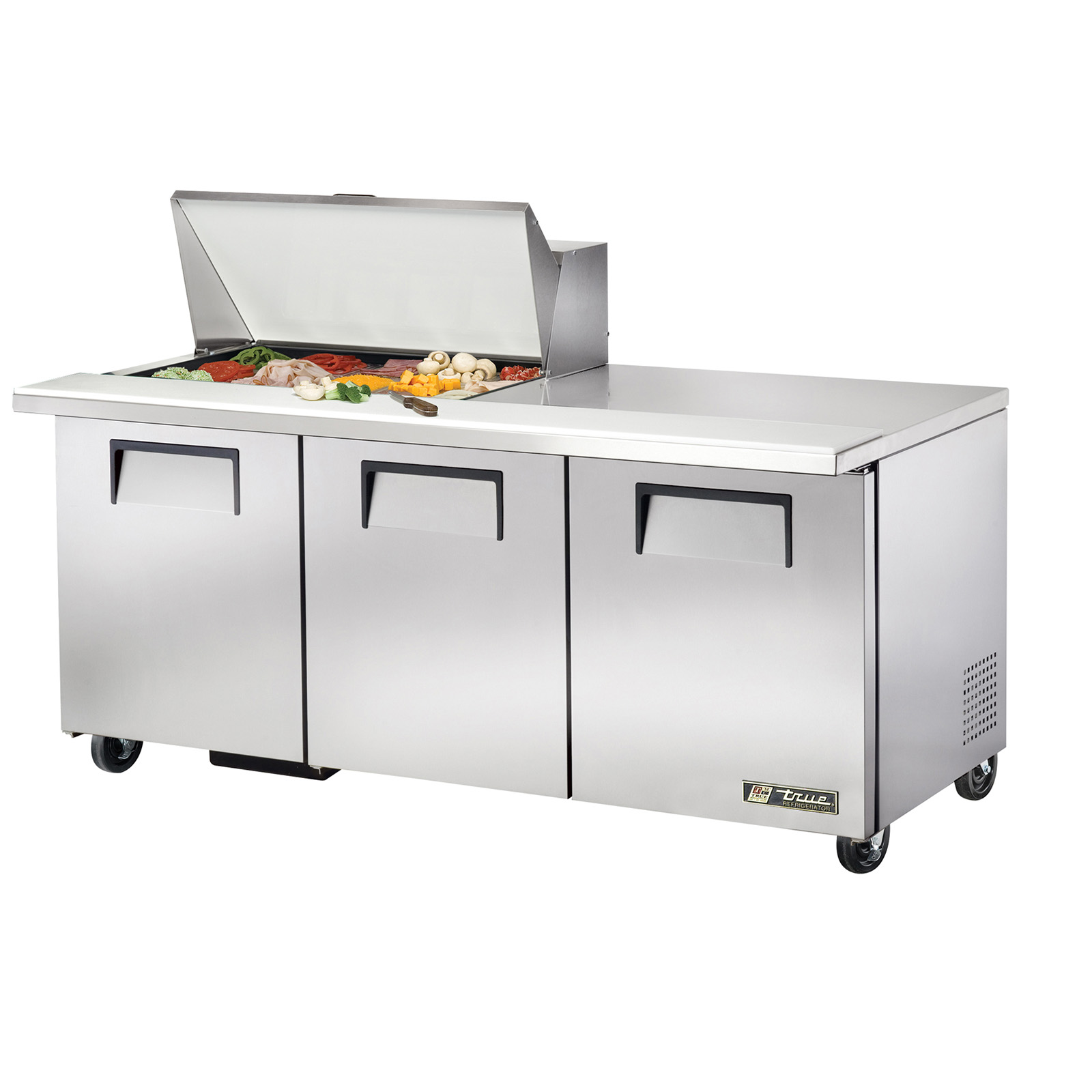 TSSU-72-15M-B True - Mega Top Sandwich/Salad Unit (15) 1/6 size (4