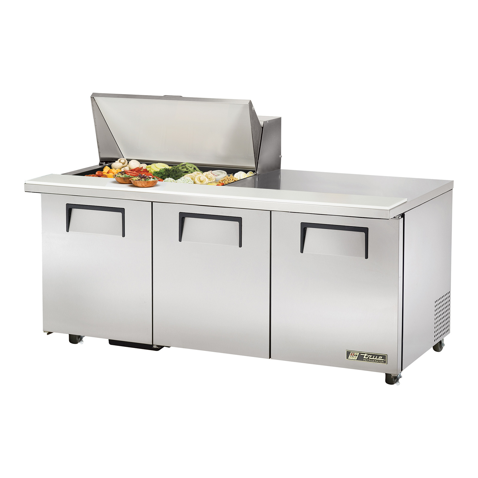 TSSU-72-15M-B-ADA True - ADA Compliant Mega Top Sandwich/Salad Unit (15) 1/6 size (4
