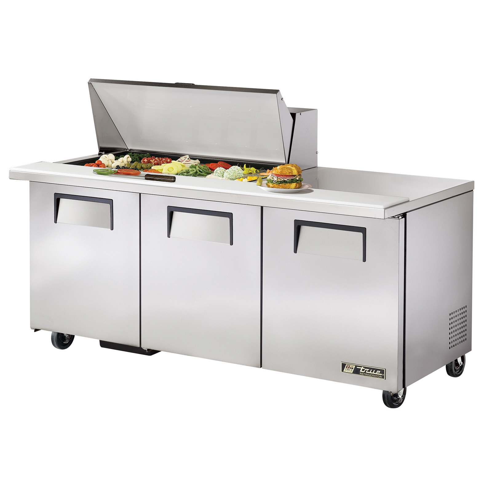 TSSU-72-18M-B True - Mega Top Sandwich/Salad Unit (18) 1/6 size (4