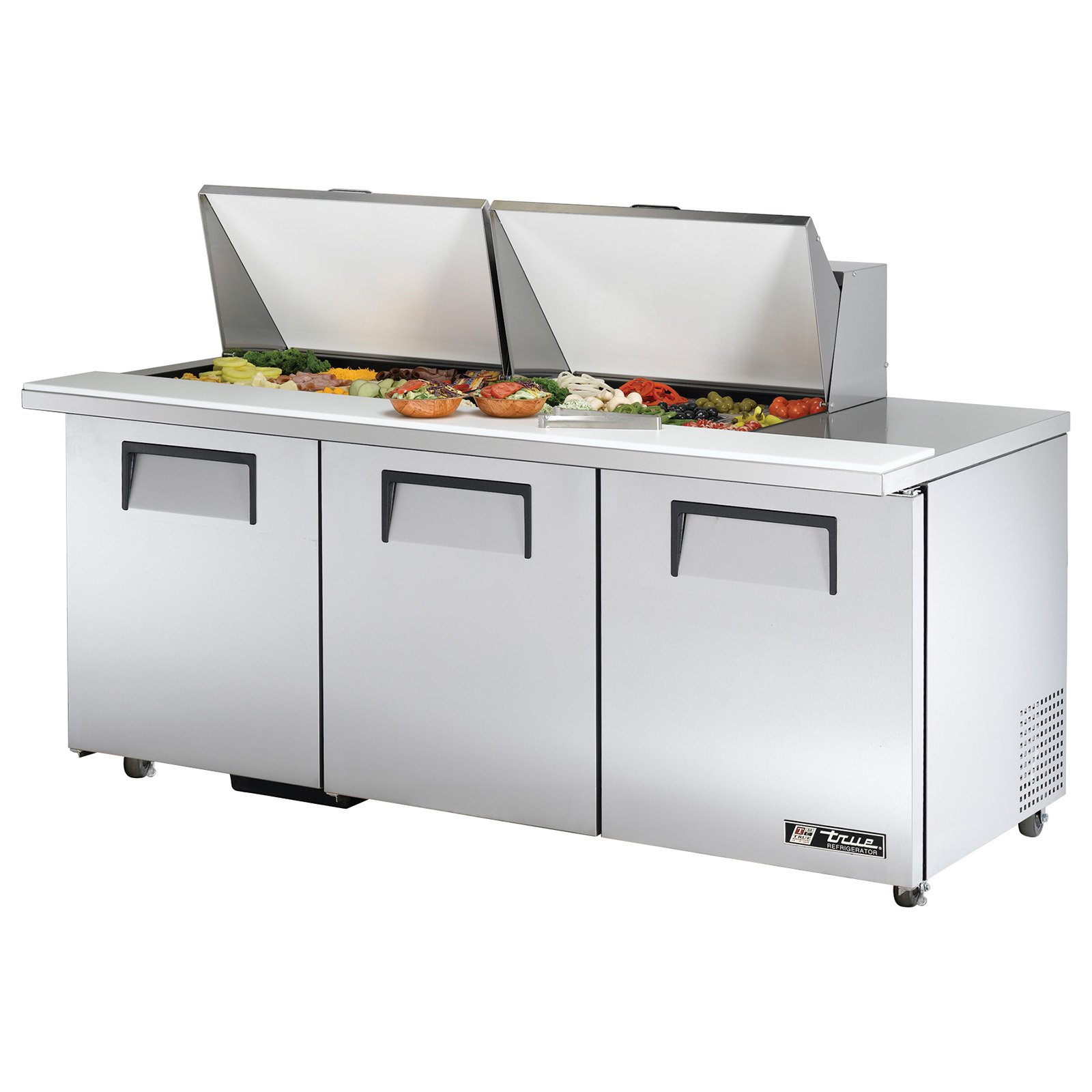 TSSU-72-24M-B-ST-ADA True - ADA Compliant Mega Top Sandwich/Salad Unit (24) 1/6 (4