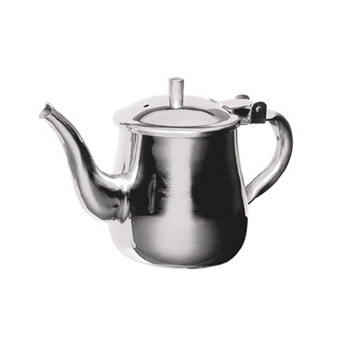 GNS-10 Update International - Teapot, 10 oz., gooseneck, 0.7 mm thick stainless steel