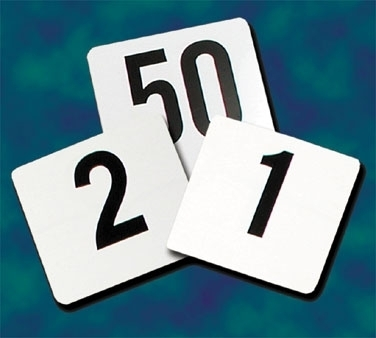 PTN4/1-50 Update International - Table Numbers, 1 - 50, 4