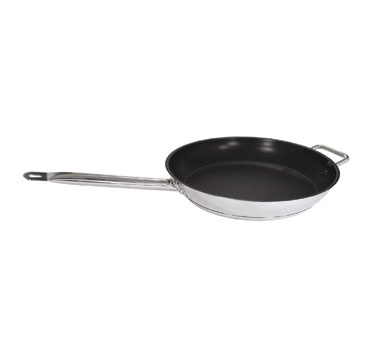 SFC-12 Update International - Excalibur Fry Pan S/S 12 in  with Rivet Long Hdl & Helper Hdl