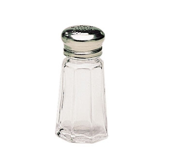 SK-PM1 Update International - Shaker, 1 oz., paneled, glass with chrome plated mushroom top