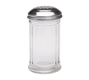 SK-FPF Update International - Shaker Jar, 12 oz., glass with chrome plated metal top, perforated