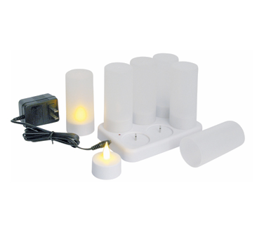 CLR-6S Winco - Flameless Tealight Candle Set