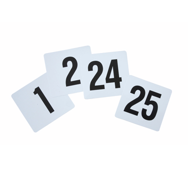 TBN-25 Winco - Table Numbers Set
