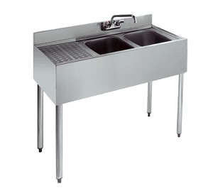 KR21-32R Krowne Metal - Royal 2100 Series Underbar Sink Unit two compartment
