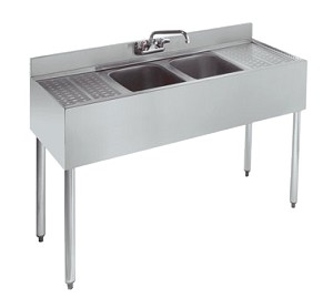KR21-42C Krowne Metal - Royal 2100 Series Underbar Sink Unit two compartment