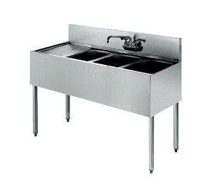 KR21-43R Krowne Metal - Royal 2100 Series Underbar Sink Unit three compartment