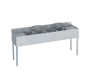 KR18-74C Krowne Metal - Royal 1800 Series Underbar Sink Unit four compartment