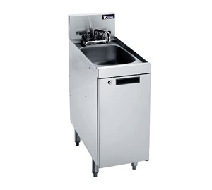 "KR18-S12C Krowne Metal - Royal 1800 Series Underbar Hand Sink 12""W x 24""D x 36-1/2""H O.A. (to match speed rail depth)"