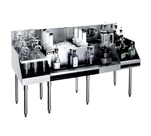 KR18-W60C-10 Krowne Metal - Royal 1800 Series Drainboard/Cocktail/Blender/Liquor Station
