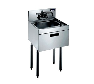 "KR21-18DST Krowne Metal - Royal 2100 Series Underbar Hand Sink 18""W x 26""D x 36-1/2""H O.A. (to match speedrail depth)"