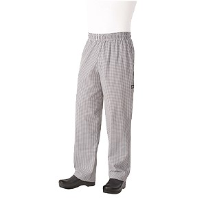NBCP0002XL Chef Works - Essential Baggy Pants elastic waistband with drawstring